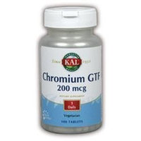 Kal Chromium GTF - 200 mcg - 100 Tablets