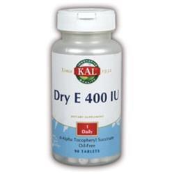 KAL Vitamin E Dry 400 IU - 90 Tablets - Vitamin E Dry
