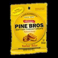 Pine Bros. Softish Throat Drops Natural Honey - 32 CT