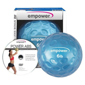 empower 6 lb Fingertip Grip Medicine Ball & DVD