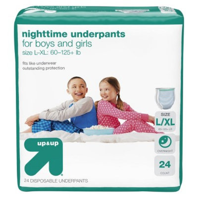 up & up Nighttime Underpants for Boys and Girls Size L/XL 21 ct