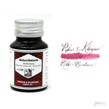 Rohrer & Klingner 50 ml Bottle Fountain Pen Ink, Alt-Bordeaux (Old Bordeaux)