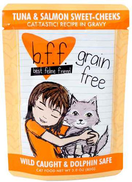 Best Feline Friend Tuna and Turkey Tickles Cat Food Pouches 12 count, 3
