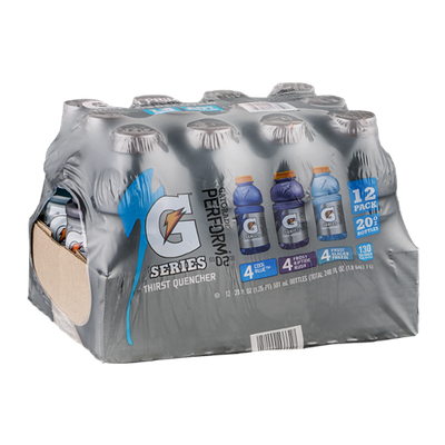 Gatorade G Series Thirst Quencher 4 Cool Blue 4 Frost Riptide Rush 4 Frost Glacier Freeze - 12 CT