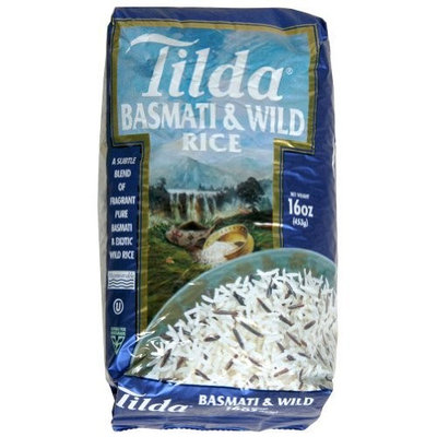 Tilda Rice Basmati and Wild Rice, 16 oz bags, pack of 8