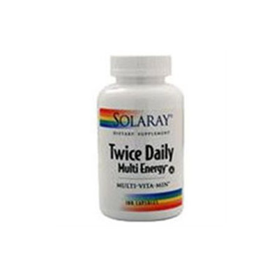 Solaray Twice Daily Multi Energy - 180 Capsules