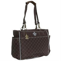 Kalencom N'Orleans Tote Quilted Chocolate/Blue Stitching - 2963CHOCBLUE