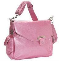Kalencom Ozz Iridescent Patent Diaper Bag in Pink