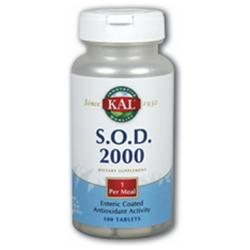 Kal S.O.D. 2000 - 250 mg - 100 Enteric Coated Tablets