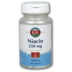 KAL Niacin 250 MG - 100 Tablets - Niacin