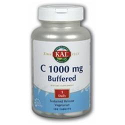 KAL Vitamin C-1000 Buffered - 100 Tablets - Vitamin C