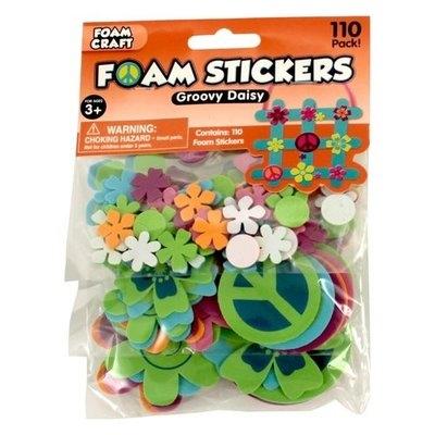 Generic Foam Stickers, Groovy Daisy