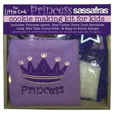 Sassafras Enterprises 22235PR Princess Cookie Baking Set with Apron
