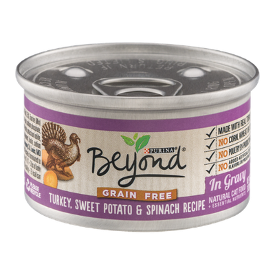 Purina Beyond Natural Cat Food Turkey, Sweet Potato & Spinach Recipe In Gravy