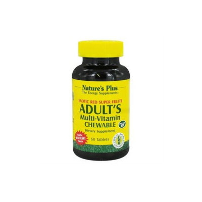 Nature's Plus - Adult's Multi-Vitamin Exotic Red Berry - 60 Chewable Tablets