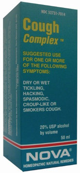 Nova Homeopathic Cough Complex 1.7 OZ