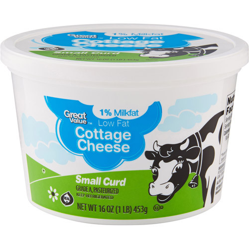 Great Value Low Fat Small Curd Cottage Cheese, 16 oz