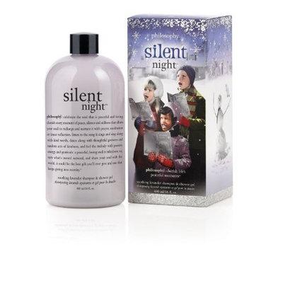 Philosophy Silent Night Soothing Lavender Shampoo/Shower Gel/Bubble Bath, 16 Ounces