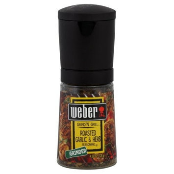 Weber Grill Grinder, Roasted Garlic Herb, 4.5-Ounce (Pack of 3)
