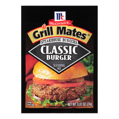 McCormick® Grill Mates® Classic Burger Steakhouse Burgers Seasoning Mix