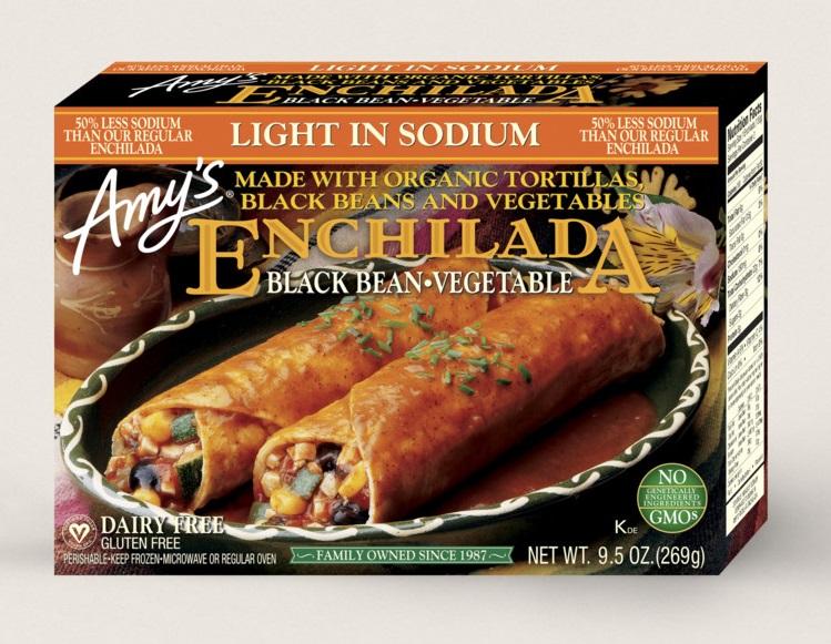 Amy's Kitchen Black Bean Vegetable Enchilada, Light In Sodium