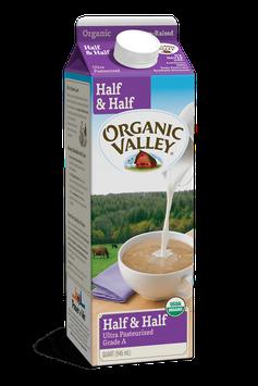 Organic Valley® Half & Half, Ultra Pasteurized, Quart