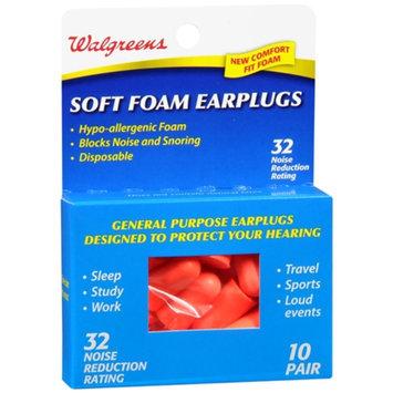 Walgreens Soft Foam Earplugs, 10 pr
