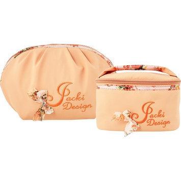 Jacki Design Bella Rosa 2 Piece Cosmetic Bag Orange - Jacki Design Ladies Cosmetic Bags