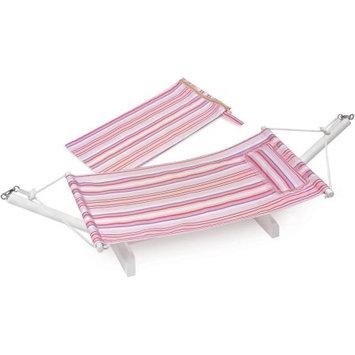 Badger Basket Portable Doll Hammock with Travel Bag Multi/Stripe