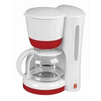 Kalorik Coordinates 8-Cup Coffee Maker, White/Red