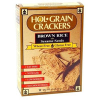 HolGrain Crackers, Brown Rice with Sesame Seeds, 4.5-Ounce (Pack of 12)