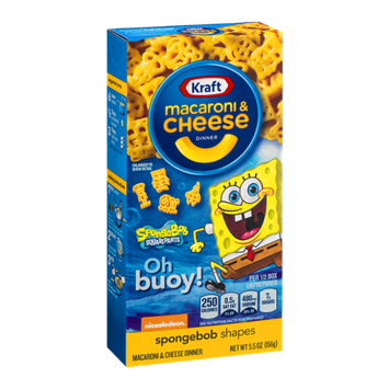 Kraft Macaroni & Cheese Dinner Spongebob Shapes