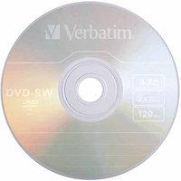 Verbatim DVD-RW 4.7GB 2x Branded Spindle, 30pk
