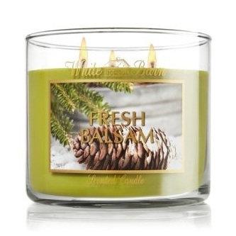 Bath & Body Works® White Barn Fresh Balsam 3-Wick Candle