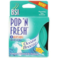 BSI Pop 'N Fresh Adjustable Air Freshener, Ocean Breeze, 12 Count