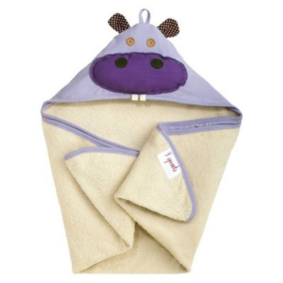 3 Sprouts Hippo Hooded Towel - Newborn/Infant