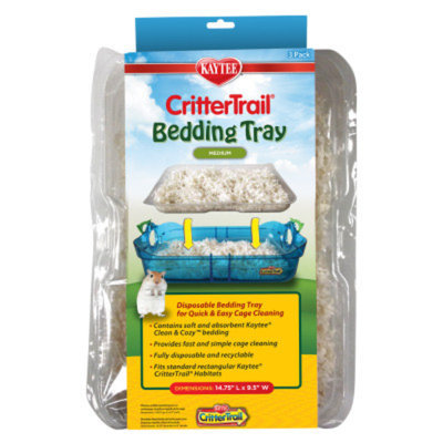 Kaytee Crittertrail Bedding Tray - 3 pack