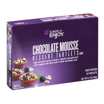 Simply Enjoy Dessert Tartlets Chocolate Mousse - 12 CT