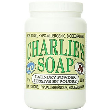 Charlie's Soap Laundry Powder Jar, 2.64lbs - 100 Standard/80 Large Loads - 41701