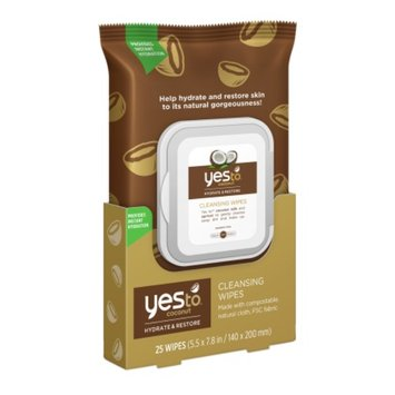 Yes To Coconut Face & Hand Cleansing Wipes - 25 Count
