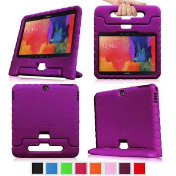 Fintie Shock Proof Convertible Handle Stand Kids Friendly for Samsung Tab 3 10-Inch And Tab 4 10-Inch Tablet, Purple