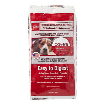 Dave's Pet Food Dog Food - Chicken, Rice & Oatmeal - 16.5 lb. Bag