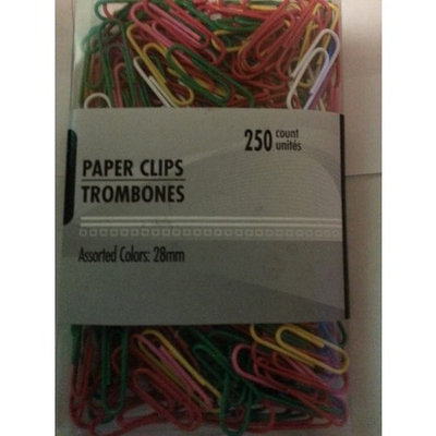 Trombones Trombone Paper Clips 250 Count Assorted Colors 1