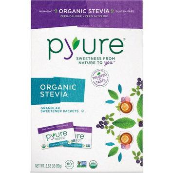 Pyure Organic Stevia Granular Sweetener Packets, 80 count, 2.82 oz