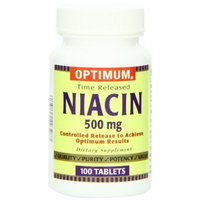Optimum Niacin Tablets, Time Release, 100 Count (Pack of 2)