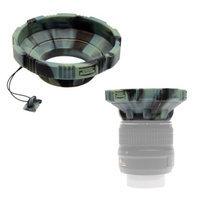 MADE Rubberized Camera Armor Lens Hood + Cap Leash (Camo) fits 52mm-77mm Lenses
