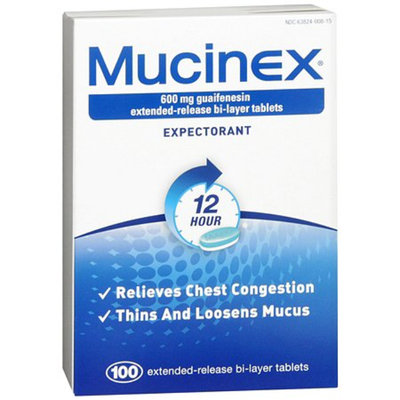 Mucinex Extended-Release Bi-Layer 600 mg Tablets
