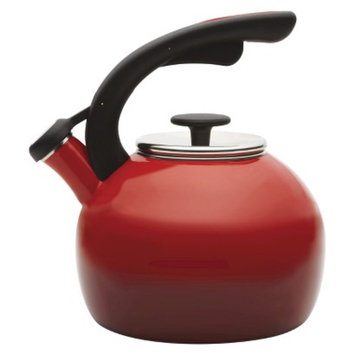 Rachael Ray 2 Qt. Crescent Whistling Teakettle - Red