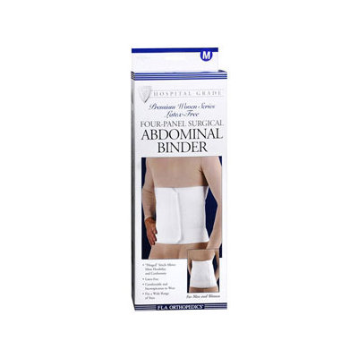 Fla Orthopedics Premium Abdominal Binder Support - Premium Abdominal Binder Support - Medium