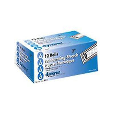 Dynarex Stretch Gauze Bandages, Sterile, 2 x 4.1 yards, 4 Boxes of 12